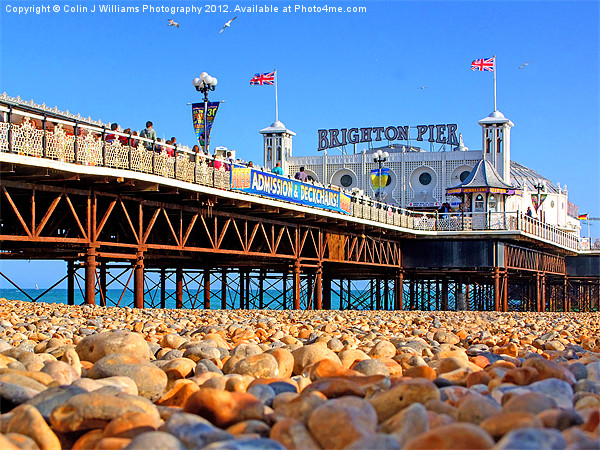 Brighton Beach And Pier Canvas print by Colin J Williams Photography