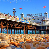 Buy canvas prints of Brighton Beach And Pier by Colin J Williams Photography