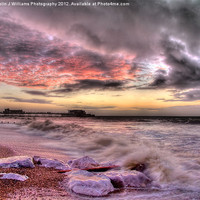Buy canvas prints of Worthing Beach Sunrise 1 by Colin J Williams Photography