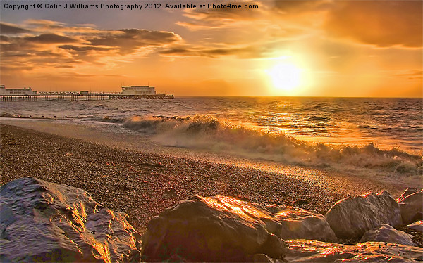 Worthing Beach Sunrise 3 Acrylic by Colin J Williams Photography