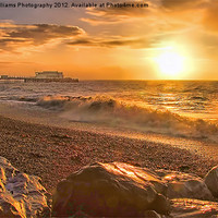Buy canvas prints of Worthing Beach Sunrise 3 by Colin J Williams Photography