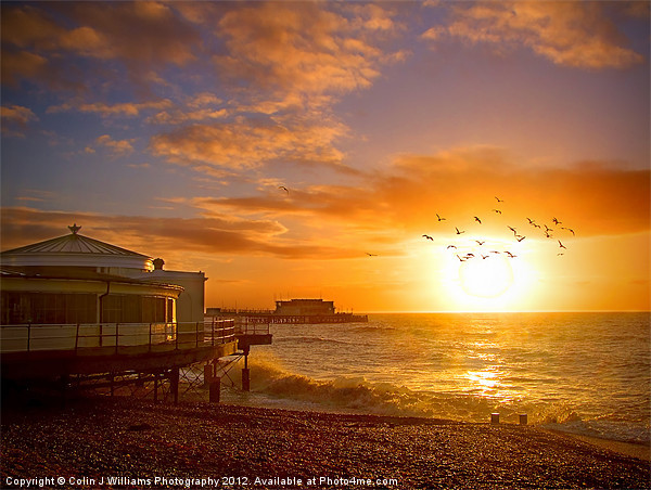 Worthing Beach Sunrise 5 Canvas print by Colin J Williams Photography