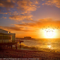 Buy canvas prints of Worthing Beach Sunrise 5 by Colin J Williams Photography
