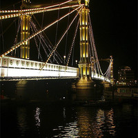 Buy canvas prints of Albert Bridge, River Thames, London by Colin J Williams Photography
