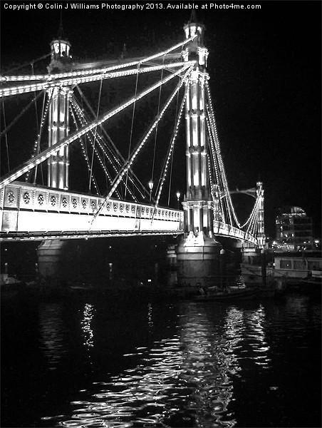 Albert Bridge, River Thames, London Canvas print by Colin J Williams Photography