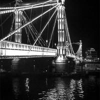 Buy canvas prints of Albert Bridge, River Thames, London by Colin J Williams Photography