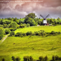Buy canvas prints of Cobstone Windmill - Turville by Colin J Williams Photography