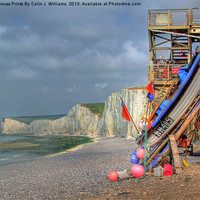 Buy canvas prints of Seven Sisters And The Birling Gap by Colin J Williams Photography