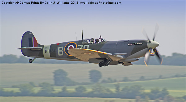 Spitfire Duxford 1 Canvas print by Colin J Williams Photography