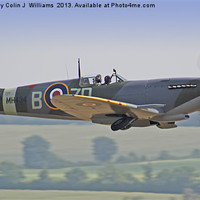 Buy canvas prints of Spitfire Duxford 1 by Colin J Williams Photography
