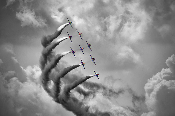 The Red Arrows - Moody Sky Canvas print by Colin J Williams Photography