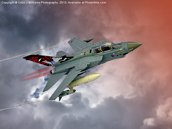 Storming !! Tornado GR4 617 Squadron Canvas print by Colin J Williams Photography