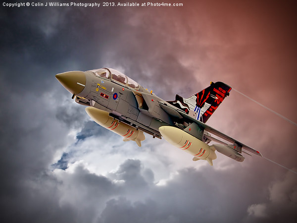 Storming 2 !! Tornado GR4 617 Squadron Canvas print by Colin J Williams Photography