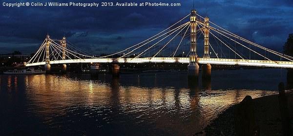 Albert Bridge London at Twilight Canvas print by Colin J Williams Photography