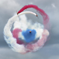 Buy canvas prints of  The Red Arrows - Head On  by Colin J Williams Photography