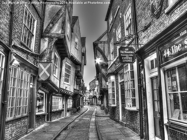 The Shambles York BW Canvas print by Colin J Willia Photography