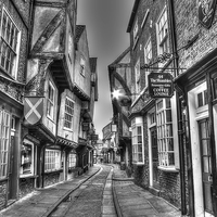 Buy canvas prints of  The Shambles York BW by Colin J Willia Photography