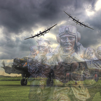 Buy canvas prints of  The Ghosts Of East Kirkby by Colin Williams Photography