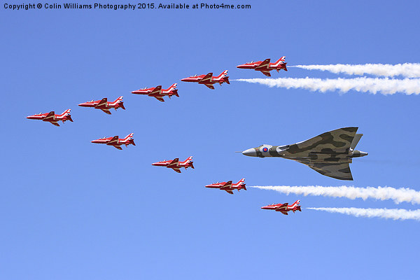 Final Vulcan flight with the red arrows 8 Canvas print by Colin Williams Photography