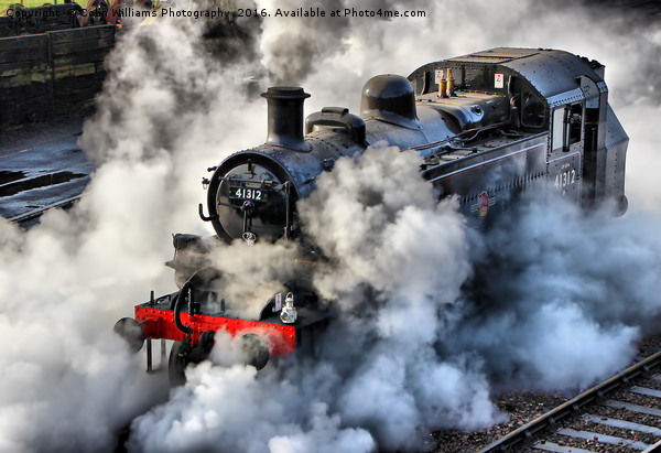 41312 Raises Steam 1 Canvas print by Colin Williams Photography