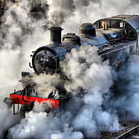 Buy canvas prints of 41312 Raises Steam 1 by Colin Williams Photography