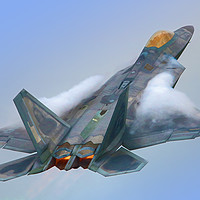 Buy canvas prints of F22A Raptor RIAT 2016 - 1 by Colin Williams Photography