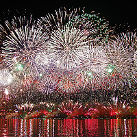 Buy canvas prints of Perth WA Skyworks Australia day 2015 - 3 by Colin Williams Photography
