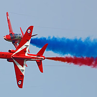 Buy canvas prints of The Red Arrows Synchro Pair At Cosford 2018 by Colin Williams Photography