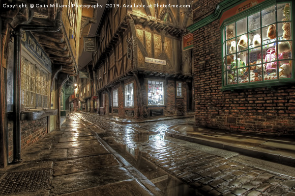 The Shambles in the Rain 1 Canvas print by Colin Williams Photography