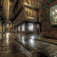 Buy canvas prints of The Shambles in the Rain 1 by Colin Williams Photography