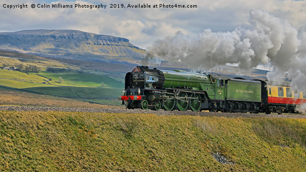 Tornado 60163 and Pen-y-Ghent Yorkshire - 1 Canvas print by Colin Williams Photography