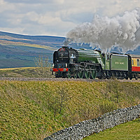 Buy canvas prints of Tornado 60163 and Pen-y-Ghent Yorkshire - 2 by Colin Williams Photography