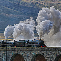 Buy canvas prints of Steam Over The Ribblhead Viaduct - 3 by Colin Williams Photography