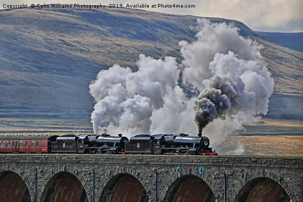 Steam Over The Ribblhead Viaduct - 4 Canvas print by Colin Williams Photography