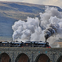 Buy canvas prints of Steam Over The Ribblhead Viaduct - 4 by Colin Williams Photography
