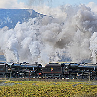 Buy canvas prints of Steam Over The Ribblhead Viaduct - 5 by Colin Williams Photography