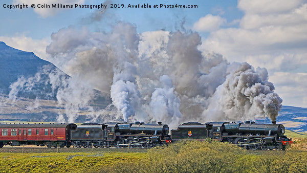 Steam Over The Ribblhead Viaduct - 6 Canvas print by Colin Williams Photography