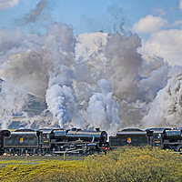 Buy canvas prints of Steam Over The Ribblhead Viaduct - 6 by Colin Williams Photography