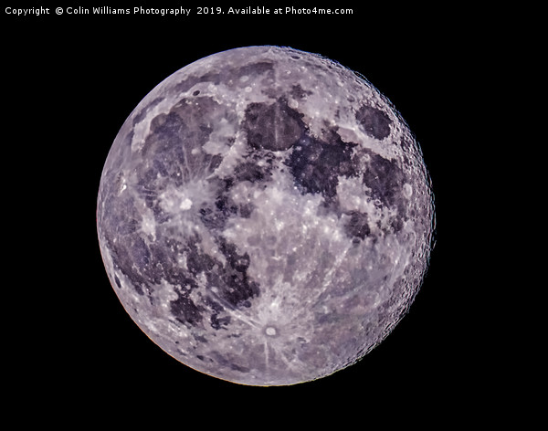 The Full Blue Moon 20.05.2019 Canvas Print by Colin Williams Photography