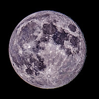 Buy canvas prints of The Full Blue Moon 20.05.2019 by Colin Williams Photography