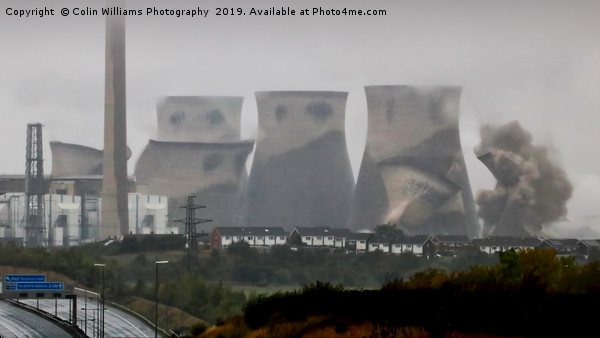 Ferrybridge  Cooling Towers Demolition  Canvas print by Colin Williams Photography