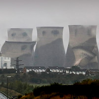 Buy canvas prints of Ferrybridge  Cooling Towers Demolition  by Colin Williams Photography