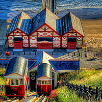 Buy canvas prints of Saltburn Cliff Tramway 4 by Colin Williams Photography