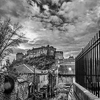 Buy canvas prints of Edinburgh Castle from the Vennel by Charles Bruce