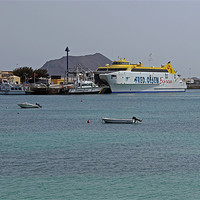 Buy canvas prints of Corralejo Harbour by Tony Murtagh