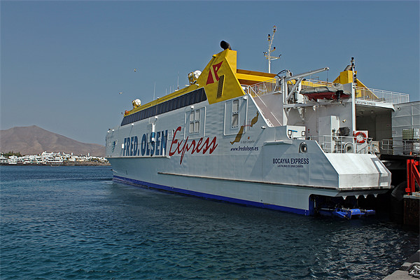 Ferry in Corralejo Harbour Canvas print by Tony Murtagh