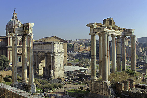 Roman Forum Canvas Print by Tony Murtagh