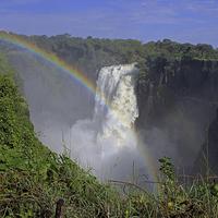 Buy canvas prints of  Waterfall Rainbow by Tony Murtagh