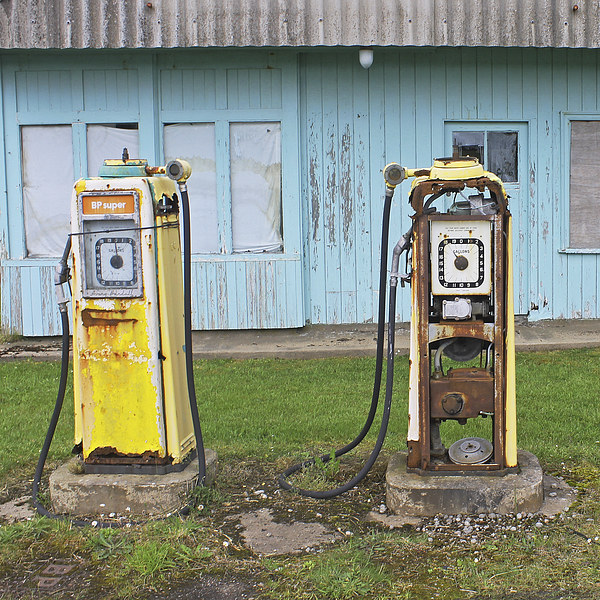 Petrol Pumps Canvas Print by Tony Murtagh