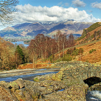 Buy canvas prints of Ashness Bridge by Jamie Green Voluntary Ranger
